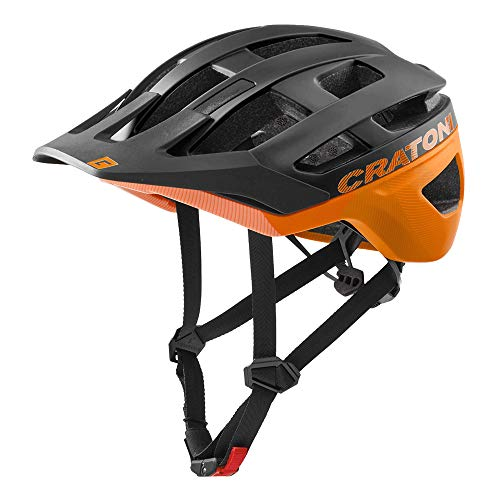 Cratoni AllRace Fahrradhelm Herren/Damen, MTB Helm, Mountainbikehelm 2021 (M-L 56-61, Schwarz-Orange)