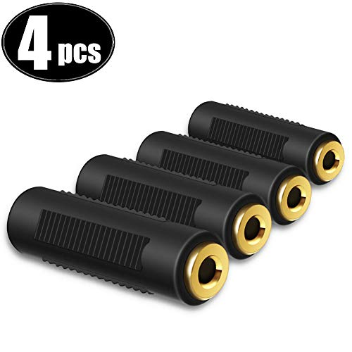 Klinken Kupplung Vergoldete für 3,5-mm-Buchse zu 3,5-mm-Buchse Audiokabel Anschlussverlängerung,Stereo Audio Klinkenkupplung Plug and Play 4pcs