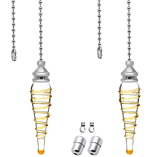 2 unidades de extensión de cadena de tirador de luz cadena de acero inoxidable 100 cm de longitud para baño luz de inodoro/luz de techo ventilador interruptor de peso ciego tirador mango de cable
