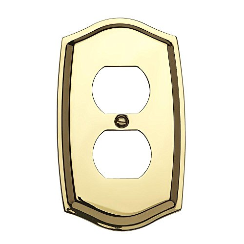Baldwin 4757.030.CD Colonial Design Duplex Switch Plate, Polished Brass - Lacquered