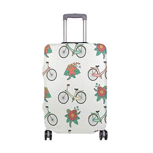 Vintage Bicicleta Floral Patten Funda de Equipaje Equipaje Maleta Protector de Viaje...