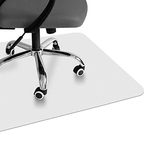 VPCOK Bodenschutzmatte, semi transparent, 120 x 90 cm, robuste und rutschfeste Stuhlunterlage für Hartböden, Laminat, Parkett und Fliesen (Mehrweg)
