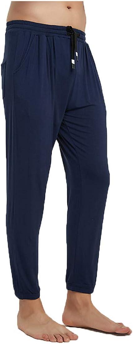 Men's Light Weight Thermals Pants Underwear Soft Long Johns Thin Pyjama Trousers 02Blue 3XL