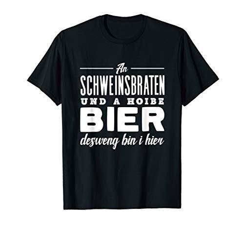 Schweinebraten Bayrisch Schweinsbraten und Bier T-Shirt