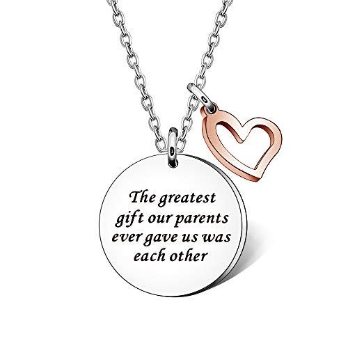 """Collares para hermanas, hermanas, hermanas, hermanas, hermanas, hermanas, hermanas, hermanas, hermanas, """"El mejor regalo que nuestros padres siempre nos dieron fueron unos a otros"""""""