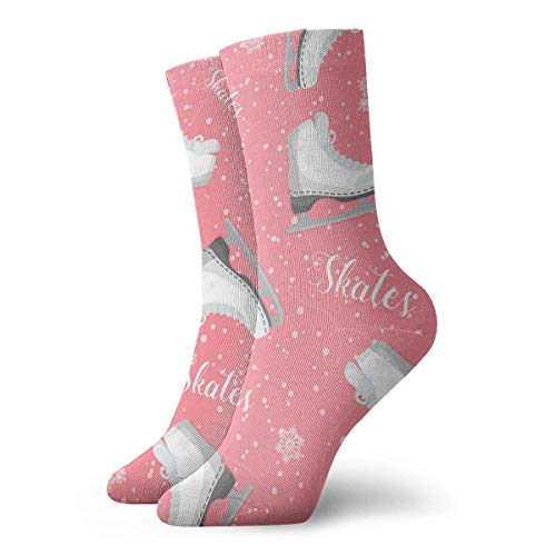 Harry wang Personalisierte Curly Skates auf dem Eis Muster Socken Bunte Fun Sport Travels Strümpfe für Männer & Frauen, 8,5x30 cm