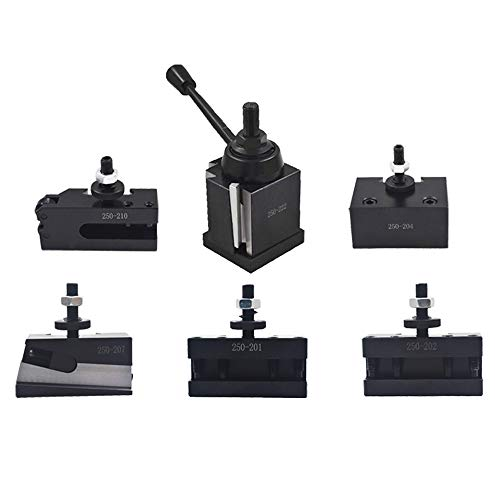 """Bxa 250-222 Tool Post Set QC Wedge Type Quick Change Turning and Facing Holders for Lathe Swing 10""""-15"""" (6)"""
