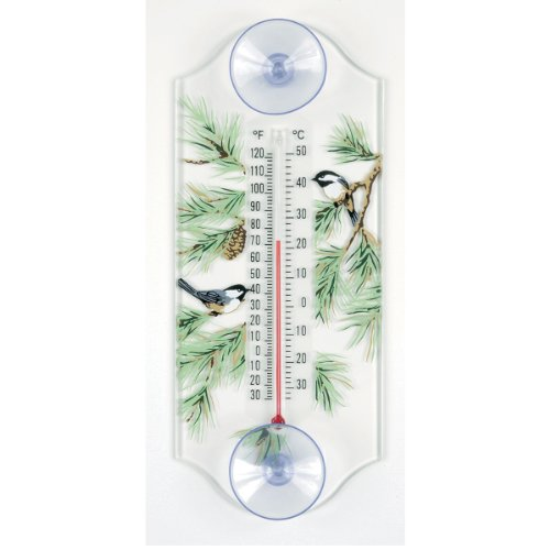 Aspects 116 Classic Style Chickadee in Pine Window Thermometer