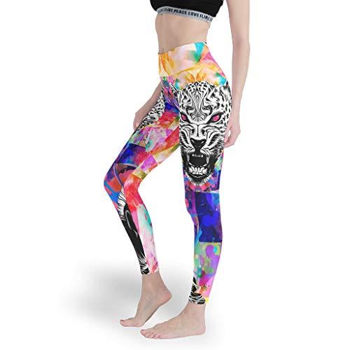 Toomjie Yoga Broek voor Vrouwen Tummy Controle en Elastische Ondoorzichtige Slim Leggings Leeuw Tijger Luipaard Gedrukt Slim Fit Butt Lift actieve Panty's