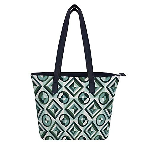 Bolso de mano para mujer, estilo vintage, con elementos decorativos para mujer, bolso de hombro de cuero impermeable, bolsa de viaje plegable para el trabajo, compras, escuela