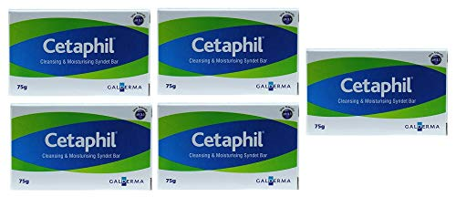 Cetaphil Cleansing and Moisturising Syndet Bar 5X 75gm (Pack of 5)