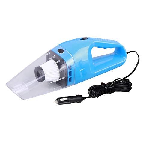 OocciShopp Aspirador, Aspirador portátil de Alta Potencia para automóvil, húmedo y seco, Doble Uso, súper succión, Filtro Hepa, diseño de Mano, Cable de alimentación súper Largo (Azul)