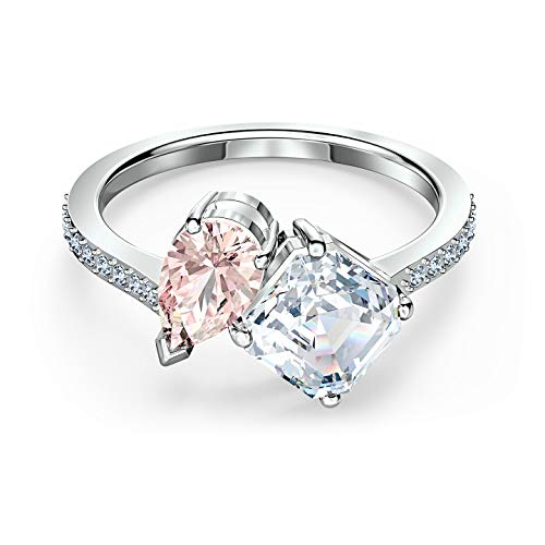 SWAROVSKI Authentic Attract Soul Multi-Color Rhodium Plated Ring Pinks - Size 7
