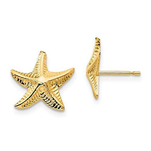Roy Rose Jewelry 14K Yellow Gold Madi K Starfish Post Earrings