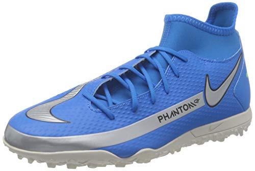 Nike Phantom GT Club DF TF, Scarpe da Calcio Unisex-Adulto, Photo Blue/Mtlc Silver-Rage Green-Black, 43 EU