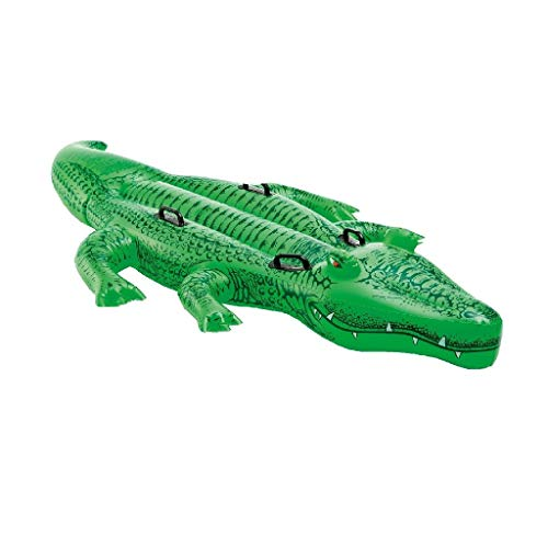 INTEX Crocodile Géant Flottant - 203 X 114 cm