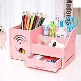 Multi-funktions Stifthalter, Kreativstift veranstalter student süße schreibwaren schreibtisch organizer büro stift bleistift halterschale-rosa Elefant 22x11x12cm(9x4x5inch)