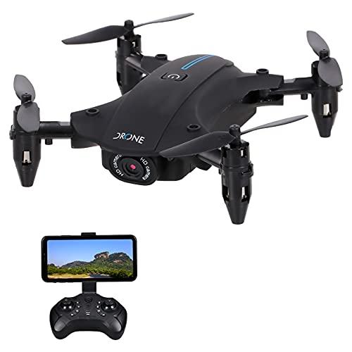 Flytise H2 RC con fotocamera 4K Wifi FPV Mini Quadricottero pieghevole Giocattolo per bambini...