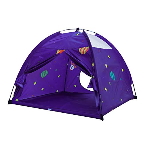 Homfu Kids Play Tent Outdoor Camping Beach Tent Indoor Children Playhouse Boys Girls Gift Game Play Toys (Purple )