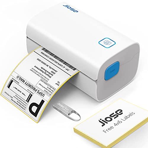 Jiose DHL Etikettendrucker 4XL Versandetikettendrucker Etikettenmaschiene Label Printer Thermodrucker Etikettermaschiene 4x6 Desktop Etikettendruck für Amazon DHL UPS Shopify FedEx USB Mac&PC