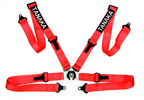 Racing Style Harness For Powersports - SINGLE (Red)