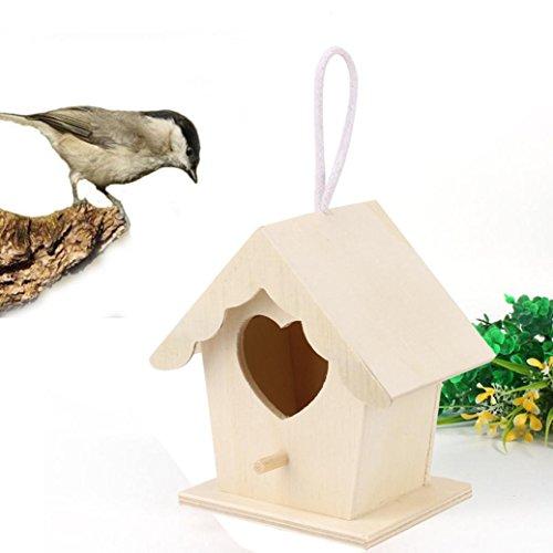 Xshuai 10 x 9 cm en bois Maison d'oiseau, DE nouveaux Nest Dox Nest House Bird House Bird House Nichoir Bird Boîte Boîte en bois Size: approx. 10x9cm kaki