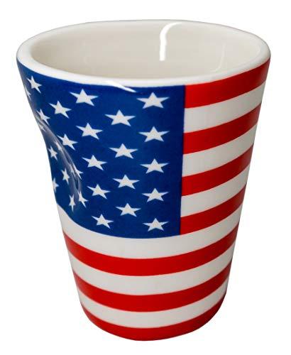 Taza de porcelana para expreso diseño bandera Estados Unidos