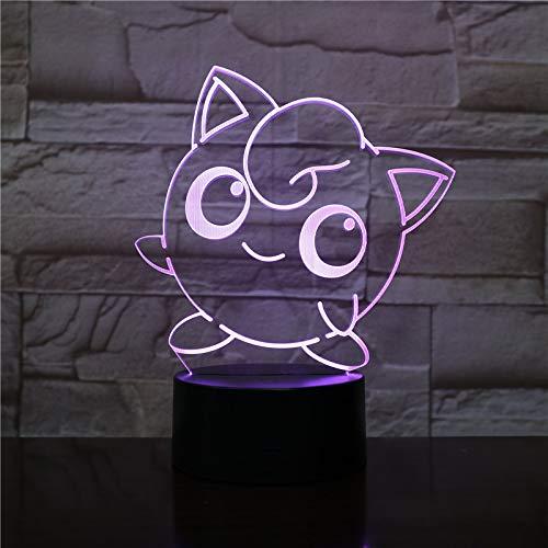 WoloShop LED Lampe Pokémon Jigglypuff Farbwechsel USB Nachtlicht