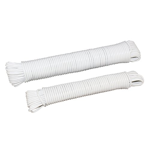 Clothesline (5/32 inch) - SGT KNOTS - Plastic Coated Clothes Line - Fiber Reinforced Line - All Purpose Laundry Line Dryer Rope for Outdoor, Outside, Indoor, Crafting, Art Projects (50 feet)