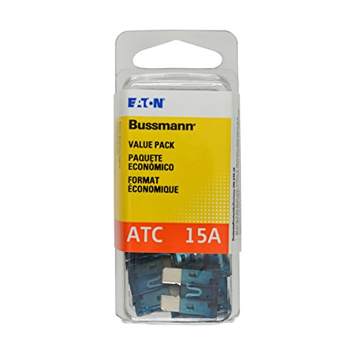 Bussmann (VP/ATC-15-RP) Blue 15 Amp 32V Fast Acting ATC Blade Fuse, (Pack of 25)