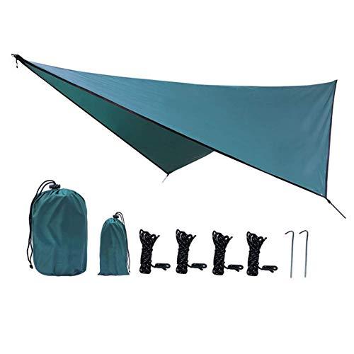 LHFLU-SP Lona para Acampar Ligero Plegable Impermeable y A Prueba de Sol Hamaca al Aire Libre Toldo Refugio para el Sol Cubierta para Camping Toldo para Lluvia,Dark Green