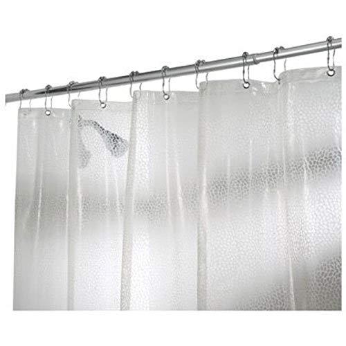 iDesign Rain Duschvorhang, 183 x 183 cm, durchsichtig, PVC-freier EVA