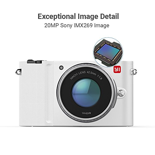 YI M1 4K 20 MP Mirrorless Digital Camera with Interchangeable Lens 12-40mm F3.5-5.6 Lens / 42.5mm F1.8 Storm (Pearl White)