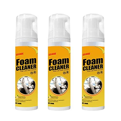 Multipurpose Foam Cleaner Spray, Foam Cleaner for car and House Lemon Flavor, All-Purpose Household...