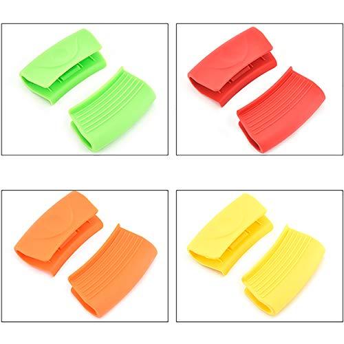 4 pares de soportes de olla de silicona resistente al calor Mini soporte de olla de silicona Mini soporte de mango de silicona resistente al calor resistente al desgaste
