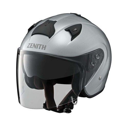 ヤマハ(YAMAHA) バイクヘルメット ジェット YJ-14 ZENITH サンバイザーモデル 90791-2279M クリスタルシルバー M (頭囲 57cm~58cm)