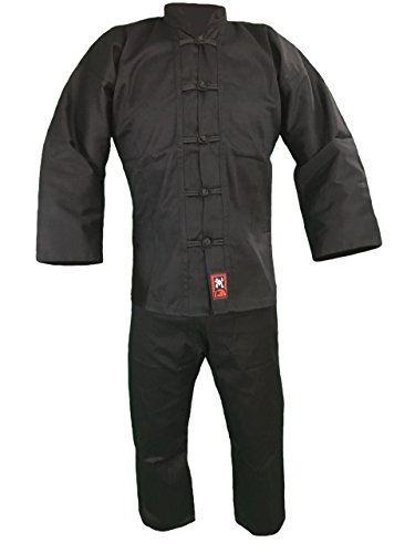 Budodrake Kung Fu Anzug schwarz (ohne Bündchen am Hosenbein) (190)