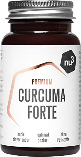 nu3 Premium Kurkuma Forte - 60 Curcuma Kapseln - NovaSOL® Curcumin 185x höhere Bioverfügbarkeit als natives Curcumin - vegane Kapsel mit flüssigem Curcumin - plus Vitamin C und D - ohne Füllstoffe