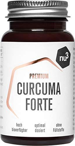 NU3–Cúrcuma Forte Premium | 60cápsulas | Curcumina Novasol® con una biodisponibilidad 185 veces mejor que la de la curcumina natural | Contiene vitamina C y vitamina D | Cúrcuma vegana