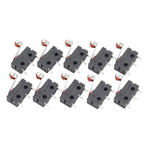 Duradero 10 PCS Mini Micro Limit Limit Switch Lever Lever Brazo SPDT Snap Action Lot (Color : Black)