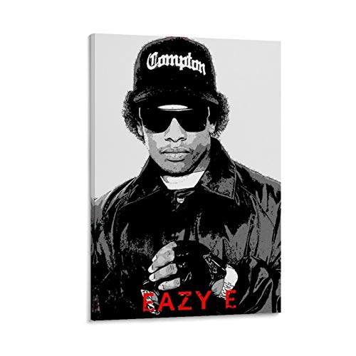 Tribute to The Rapper Eazy-E Canvas Art Poster and Wall Art Picture Print Modern Family Bedroom Decor Posters 12x18inch(30x45cm)