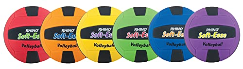 Champion Sports Rhino Softeeze Volleyball Set, Assorted Colors, Set of 6