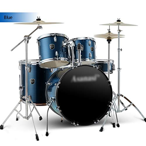 Musikinstrumente Schlagzeug & Schlagwerk Drums Adult Drumset Erwachsene Anfänger Üben Trommeln Einführung In Die Jazz-Trommel Professional Spielen Schlagzeug (Color : Blue, Size : 120 * 160cm)