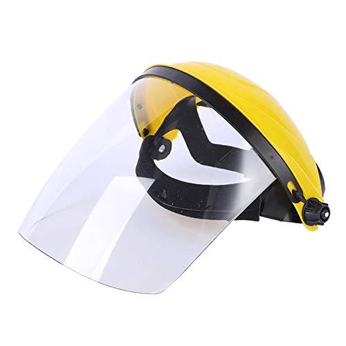 Máscara Protectora de Seguridad Pantalla de Protección Facial Transparente Montada en La Cabeza Casco de Pulido - Claro ⭐