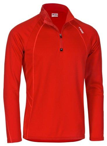 Rono Microm Pro Z-Top T-shirt zippé à manches longues pour homme Rouge (126) Rouge (126) X-Large