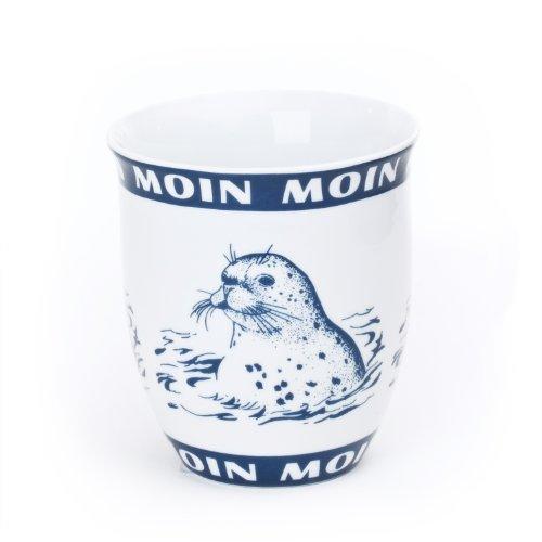 Becher Seehund / Robbe Moin Moin Innen Ebbe und Flut 0,4l
