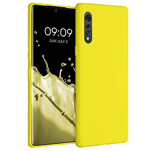 kwmobile Carcasa para LG Velvet - Funda para móvil en TPU Silicona - Protector Trasero en amarilo Brillante