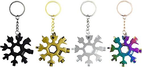 Regalos para hombres - 4pcs 18 en 1 gadgets de herramientas multi de copo de nieve para hombres, regalos inusuales para él, mejores ideas de regalos de padre / papá, regalos divertidos para papá, BRIC