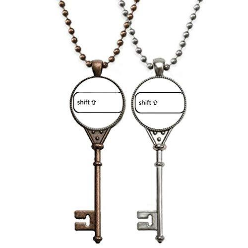 Keyboard-Symbol Shift Art Deco Geschenk Mode Schlüssel Halskette Anhänger Schmuck Paar Dekoration