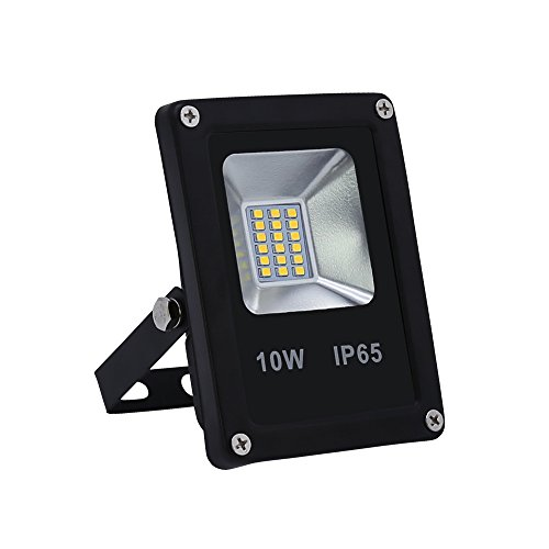 VINGO® 10W LED Fluter Kaltweiß Außen Flutlicht IP65 Licht Strahler AC85-265V Wandstrahler Objektbeleuchtung Leucht IP65